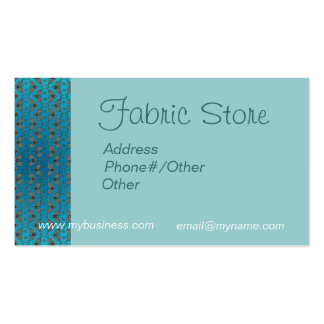 FABRIC STORE CARD by SHARON SHARPE Pack Of Standard Business Cards
