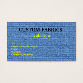 Fabric Texture  Business Cards