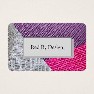 Fabric Textured Geometric Business Card