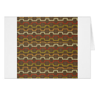 Fabric Textures Vintage Retro 70s Zig Zag Pattern Card