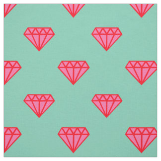 Fabric: Turquoise & pink gemstones Fabric