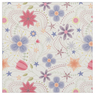 Fabric with abstract flowers