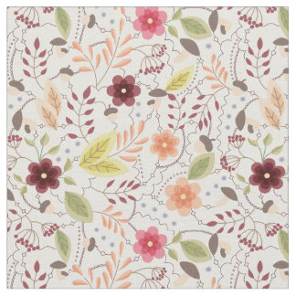 Fabric with autumn flowers