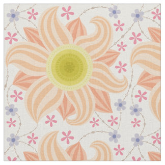 Fabric with big vintage flower