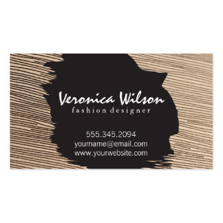 Fabric with Line Threading Business Card