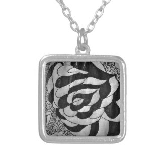 Fabricated Story Intervals Silver Plated Necklace