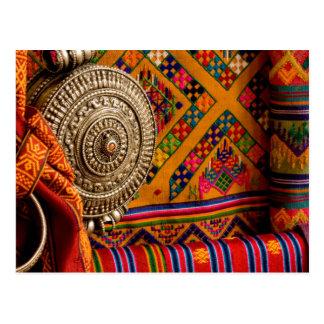 Fabrics, Bhutan Postcard