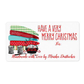 Fabrics notions sewing quilting Christmas label