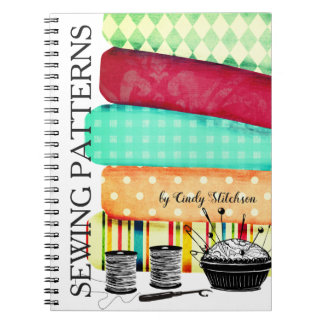 Fabrics sewing notions quilting pattern notebook