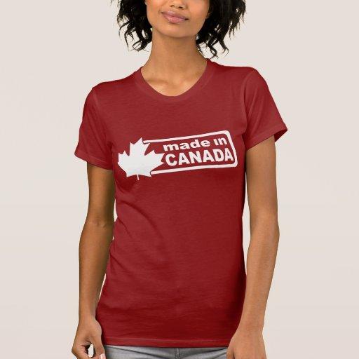 Fabriqué au Canada - la chemise des femmes rouges T-shirt