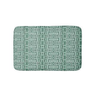 fabu - white and green bath mat