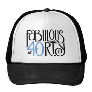 Fabulous 40 black blue Hat