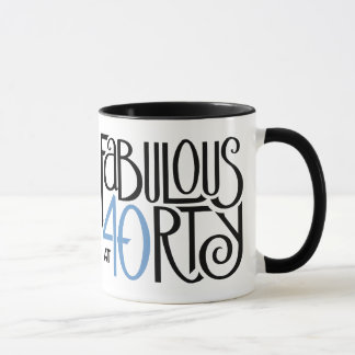 Fabulous 40 black blue Mug