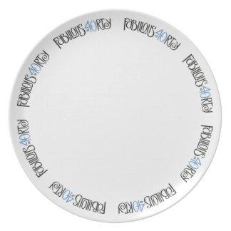Fabulous 40 black blue Plate
