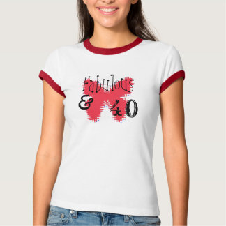 Fabulous & 40 with butterfly T-Shirt