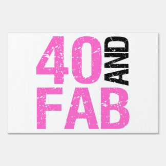 Fabulous 40th Birthday Sign