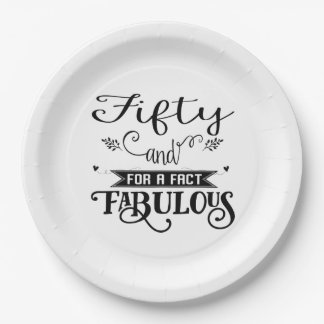 Fabulous 50 and Fun Party Paper Good Paper Plate