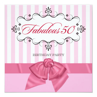 Fabulous 50 - Custom Birthday Party Invitations