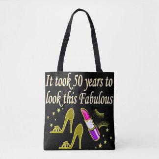 FABULOUS 50 YEAR OLD DIVA TOTE BAG