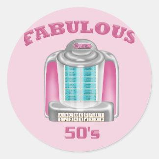 Fabulous 50's classic round sticker