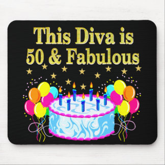 FABULOUS 50TH PARTY CELEBRATION DESIGN MOUSE PAD