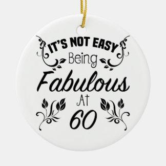 Fabulous 60th Birthday Ceramic Ornament