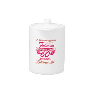 Fabulous 60th year birthday party gift tee