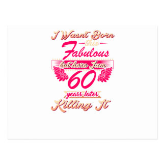 Fabulous 60th year birthday party gift tee postcard