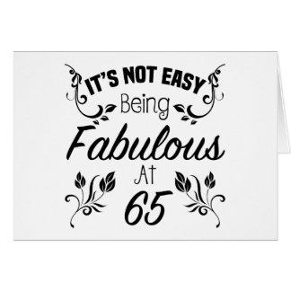 Fabulous 65th Birthday Card