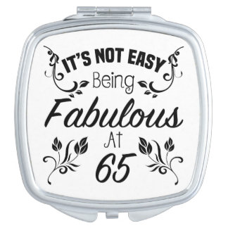 Fabulous 65th Birthday Compact Mirrors