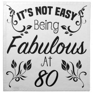 Fabulous 80th Birthday Napkin