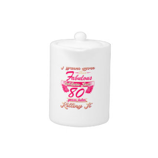 Fabulous 80th year birthday party gift tee