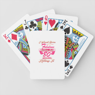 Fabulous 80th year birthday party gift tee bicycle playing cards