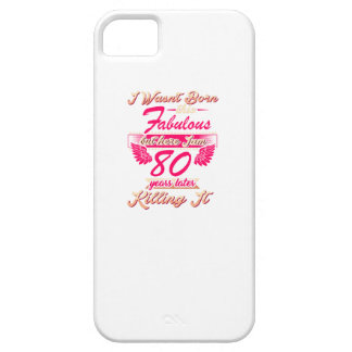 Fabulous 80th year birthday party gift tee iPhone 5 cover
