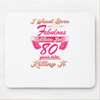 Fabulous 80th year birthday party gift tee mouse pad