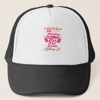 Fabulous 80th year birthday party gift tee trucker hat