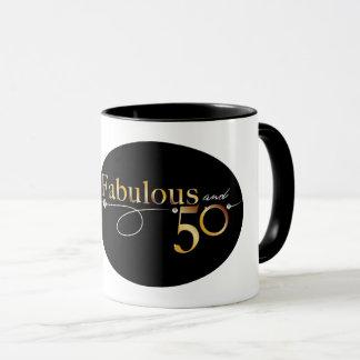 Fabulous and 50 celebration design mug