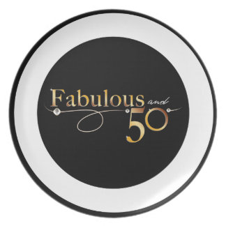 Fabulous and 50 | Melamine Plate