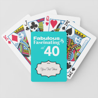 Fabulous and Fascinating at 40 Bicycle Playing Cards