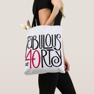 Fabulous at 40rty All-Over-Print Tote Bag