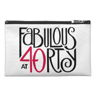 Fabulous at 40rty black red Travel Accessory Bag