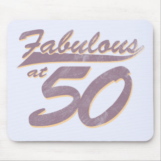 Fabulous at 50 Birthday Mouse Pad