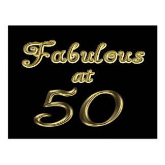 Fabulous at 50 Postcard
