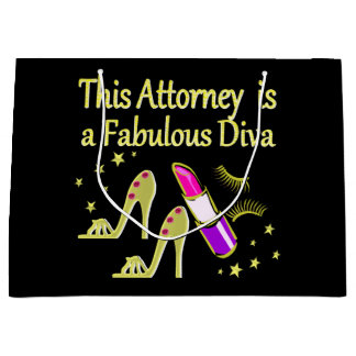 FABULOUS ATTORNEY DIVA DESIGN LARGE GIFT BAG