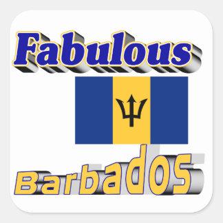 fabulous barbados square sticker