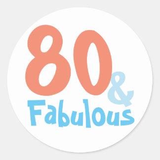 Fabulous Birthday Party Classic Round Sticker