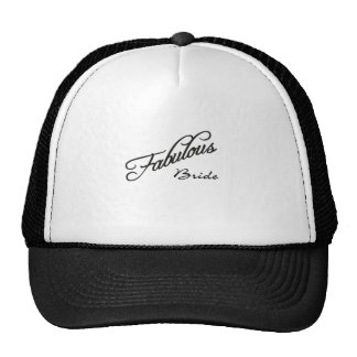 fabulous bride trucker hat