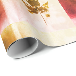 Fabulous Canadian Maple Leaf Handmade Nature Art Wrapping Paper