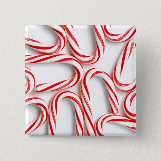 Fabulous Christmas Candy Canes 2 Inch Square Button