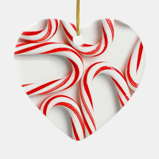 Fabulous Christmas Candy Canes Ceramic Ornament